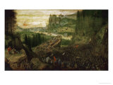 The Suicide of Saul in the Battle of Mount Gilboa Against the Philistines, 1562 Giclee Print by Pieter Bruegel the Elder