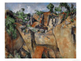 The Quarry at Bibemus, circa 1895 Giclee Print by Paul Cézanne