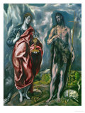 Saints John the Baptist (Left) and John the Evanglist (Right) Giclee Print by  El Greco