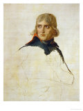Napoleon Bonaparte, Study (1797/98) Lmina gicle por Jacques-Louis David