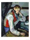 Boy in a Red Waistcoat Giclee Print by Paul Cézanne