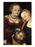 Judith with the Head of Holofernes and a Servant Giclee Print by Lucas Cranach the Elder