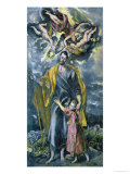 Saint Joseph and the Infant Jesus Giclee Print by  El Greco