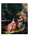 The Music Lesson Giclee Print by Francois Boucher