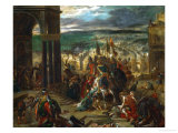 Constantinople Taken by the Crusaders, April 12, 1204 Giclee Print by Eugene Delacroix