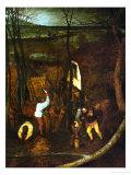 The Dark Day, Detail Giclee Print by Pieter Bruegel the Elder