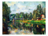 Bridge Over Ther Marne at Creteil, 1888 Gicledruk van Paul Czanne
