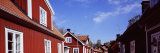 Houses on the Both Sides of a Street, Trosa, Sweden Photographic Print by  Panoramic Images