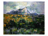 Mount Sainte-Victoire, 1906 Giclee Print by Paul Cézanne