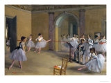 Ballet Studio at the Opera in Rue Le Peletier, 1872 Giclee Print by Edgar Degas