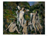 Four Bathers, 1888-1890 Giclee Print by Paul Cézanne