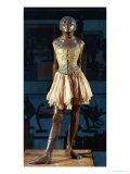 Little Dancer Aged Fourteen, 1880-1881, Bronze with Muslin Skirt and Satin Hair Ribbon Giclee Print by Edgar Degas