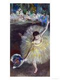 Dancing Girl, Fin D'Arabesque, 1877 Giclée-Druck von Edgar Degas