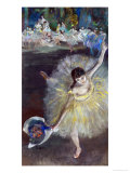 Dancing Girl, Fin D&#39;Arabesque, 1877 Giclee Print by Edgar Degas