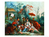 The Chinese Garden, 1742 Giclee Print by Francois Boucher