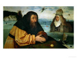 The Temptation of St. Anthony Abbot, the Head of an Abbess Sits Atop a Whorehouse Giclee Print by Hieronymus Bosch