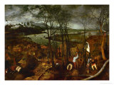 The Dark Day, from the Series The Seasons, 1565 Giclée-Druck von Pieter Bruegel the Elder