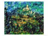 La Montaigne Sainte-Victoire, 1905 Giclee Print by Paul Cézanne