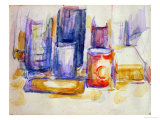 A Kitchen Table, Pots and Bottles, 1902-1906 Giclee Print by Paul Cézanne
