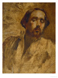 Self-Portrait in the Painter's Smock, 1860-1862 Giclee Print by Edgar Degas