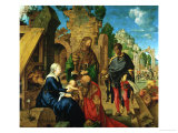 Adoration of the Magi, 1504 Tempera on Wood Giclee Print by Albrecht Dürer