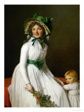 Mme. Seriziat and Her Son Giclee Print by Jacques-Louis David