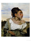 Young Orphan in the Cemetery, circa 1824 Giclee Print by Eugene Delacroix