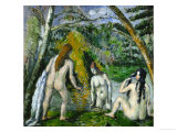 Three Bathers, 1879-1882 Giclee Print by Paul Cézanne