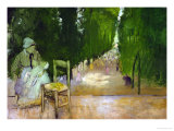 A Wetnurse in the Luxembourg Garden Giclee Print by Edgar Degas