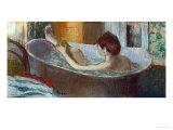 Woman in Her Bath, Washing a Leg, 1883-1884 Giclée-tryk af Edgar Degas