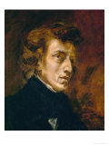 Frederic Chopin (1809-1849), Polish-French Composer Reproduction procédé giclée par Eugene Delacroix