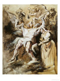 Job Tormented by the Demons Giclee Print by Eugene Delacroix