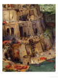 The Tower of Babel (Detail), 1563 Giclee Print by Pieter Bruegel the Elder