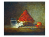 A Basket of Wild Strawberries Giclee Print by Jean-Baptiste Simeon Chardin