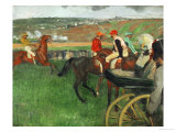 The Race Course: Amateur Jockeys Near a Carriage, 1876-1887 Giclee Print by Edgar Degas