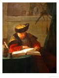 A Chemist in His Laboratory or a Philosopher Reading Giclee Print by Jean-Baptiste Simeon Chardin