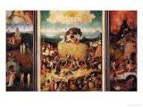 The Haywain, Triptych, circa 1485-90 Giclée-Druck von Hieronymus Bosch