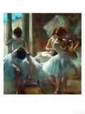 Dancers at Rest, 1884-1885 Giclee Print by Edgar Degas