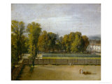 View of the Jardin Du Luxembourg, Paris Giclee Print by Jacques-Louis David