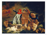 Dante and Virgil, 1822 Giclee Print by Eugene Delacroix