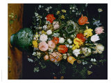Flowers in a Blue Vase Giclee Print by Jan Brueghel the Elder