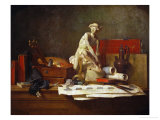 The Attributes of the Arts and Their Rewards, Painted for Catherine the Great, 1766 Giclee Print by Jean-Baptiste Simeon Chardin