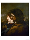 The Happy Lovers Giclee Print by Gustave Courbet