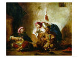 Jewish Musicians of Mogador Giclee Print by Eugene Delacroix