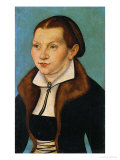 Katharina Von Bora, Martin Luther's Wife Giclee Print by Lucas Cranach the Elder
