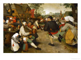 Peasants' Dance, 1568 Giclee Print by Pieter Bruegel the Elder