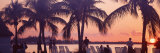 Sunset on the Beach, Miami Beach, Florida, USA Photographic Print by  Panoramic Images