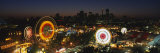 Ferris Wheels Lit Up at Night, Calgary Stampede, Calgary, Alberta, Canada Photographic Print by  Panoramic Images