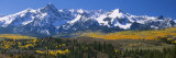 Mountains Covered in Snow, Sneffels Range, Colorado, USA Fotodruck von  Panoramic Images