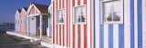 Beach Huts on the Beach, Costa de Prata, Portugal Photographic Print by  Panoramic Images